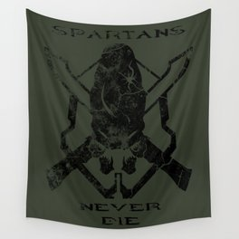 Spartans Never Die  |  Halo Wall Tapestry