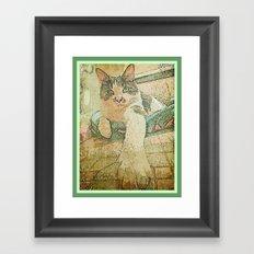 Bijou in basket Framed Art Print