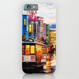 Russian Hill, San Francisco with view of Bay iPhone Case