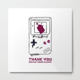 Nintendo - Game boy - Thank you Yokoi. Metal Print