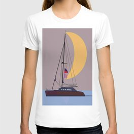 Boat in the middle of the night T-shirt