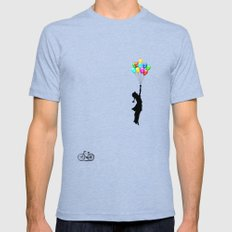 balloons Tri-Blue Mens Fitted Tee X-LARGE