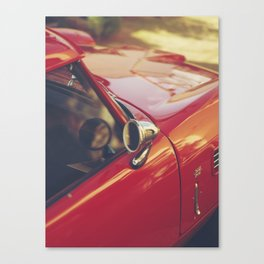 Red supercar photography, Triumph spitfire, original english car, classic sports auto Canvas Print