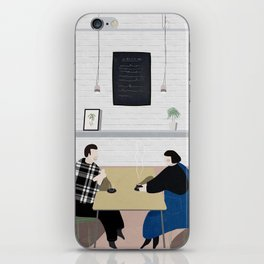 Cafe Conversations iPhone Skin