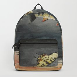 Vintage Winslow Homer Fish & Butterfly Painting (1900) Backpack