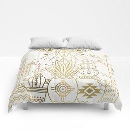 Santa Fe Garden – Gold Ink Comforters