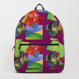 Painted Squares Jiggle - Plum Backpack