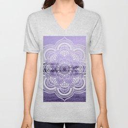 Water Mandala Lavender Unisex V-Neck