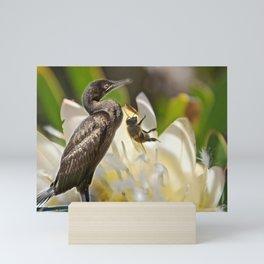Cormorant & Bee Mini Art Print