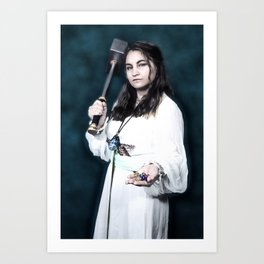Aasimar Cleric of Enlil with Hammer Cosplay Art Print