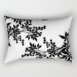 Black and White Leaf Toile Rectangular Pillow