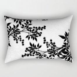 Black and White Leaf Toile Rectangular Pillow