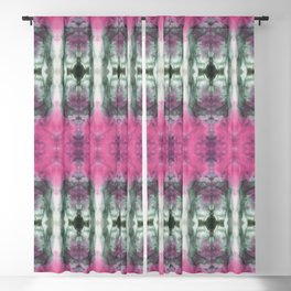 Colorful Garden Shibori Blackout Curtain