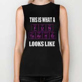 FUN TEACHER LOOKS Teachers Teachers Assistant Design s WOMENS PINK Biker Tank