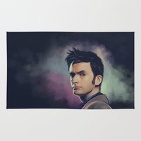 david tennant Area & Throw Rugs featuring David Tennant - Doctor Who by KanaHyde