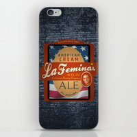 ale giorgini iPhone & iPod Skins featuring American Cream Ale by La Femina Brewing Co.