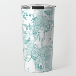 just goats teal Travel Mug