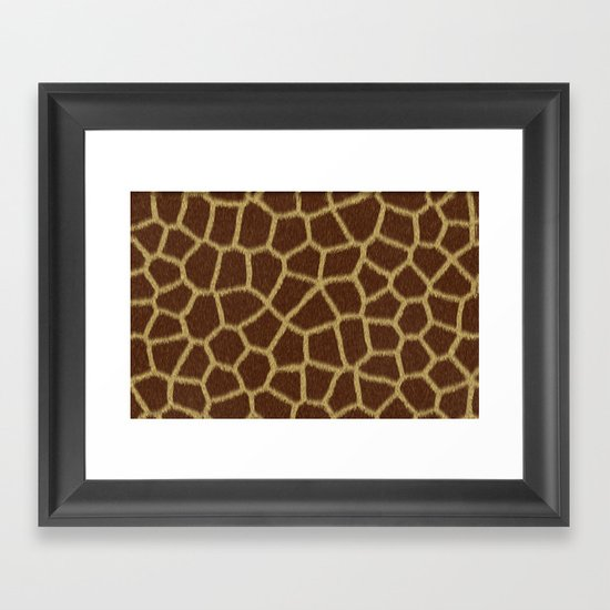Animal Patterns - Giraffe Framed Art Print