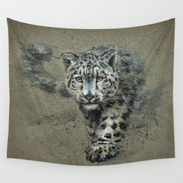 Snow leopard background Wall Tapestry