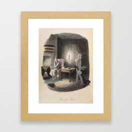 Christmas Carol - Marley's Ghost Framed Art Print