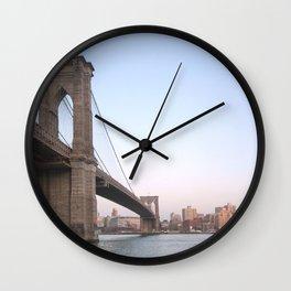 Brooklyn Bridge II Wall Clock