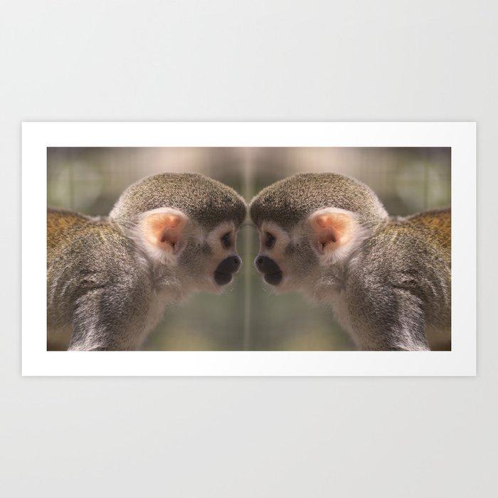 Mirror monkeys Art Print