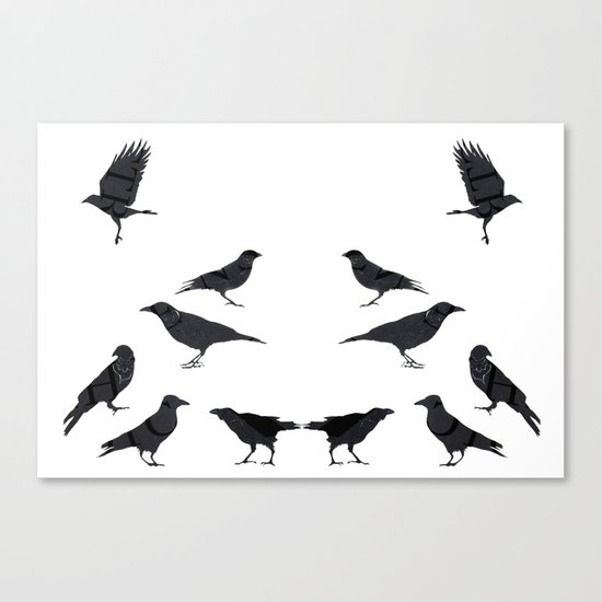 kargalar (crows) Canvas Print