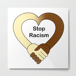 Stop racism theme handshake Metal Print