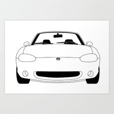 NB Miata/MX-5 Art Print