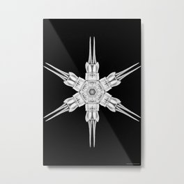Ninja Star 1 Metal Print