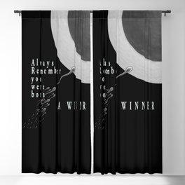 Born A Winner Blackout Curtain
