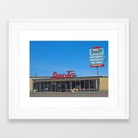 mid century Framed Art Prints featuring Mid-Century building by Vorona Photography