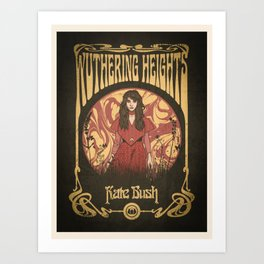 Kate Bush Withering Heights Art Print
