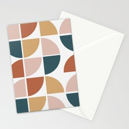 Mid Century Circles Stationery Cards