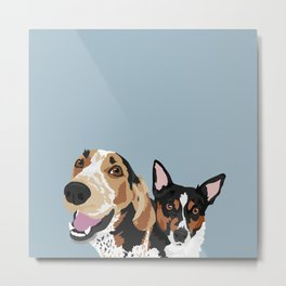 Freddy and Trigger Metal Print