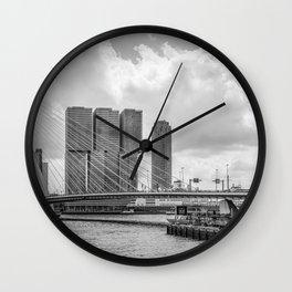 Rotterdarm cityscape Wall Clock