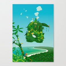 Green Taxi Canvas Print