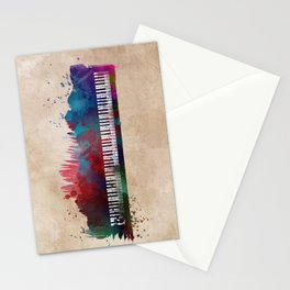 keyboard art #keyboard #piano Stationery Cards
