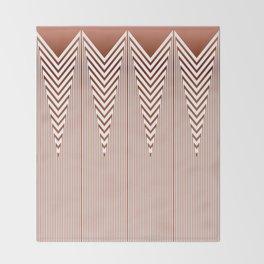 Art Deco Geometric Arrowhead Dusty Peach Design Throw Blanket