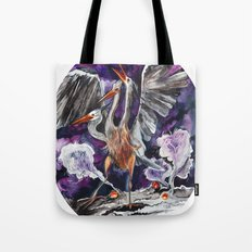 Three-headed Evil Bird God! Tote Bag