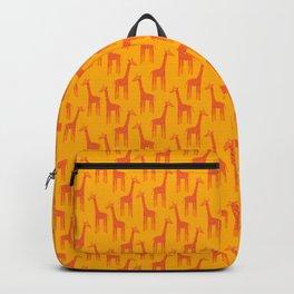 Giraffes-Orange Backpack