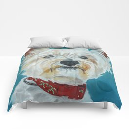 Jesse the Beautiful West Highland White Terrier Dog Portrait Comforters