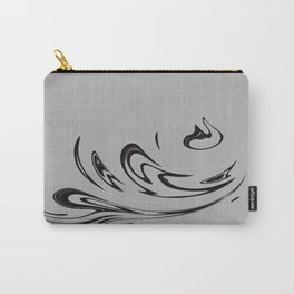 Black & White Fire Carry-All Pouch