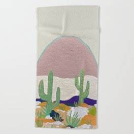 Cactus Party Beach Towel
