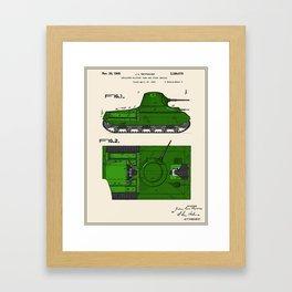 Tank Patent Framed Art Print