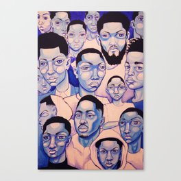 Black Boy Blues Canvas Print