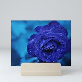 Rose Blue Flower Mini Art Print