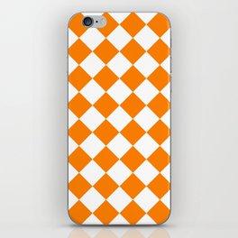 Large Diamonds - White and Orange iPhone Skin