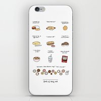 30 rock iPhone & iPod Skins featuring Foods of 30 Rock by Tyler Feder