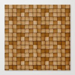 Wood Blocks-Brown Canvas Print